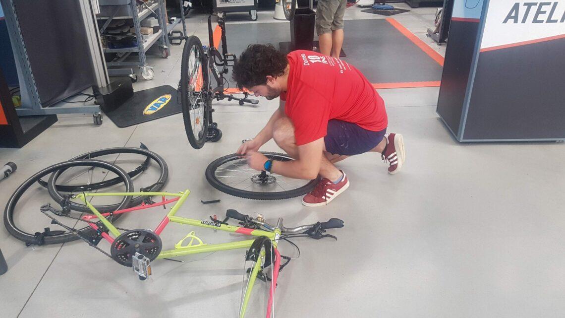 Changement de vélo à Décathlon Mâcon !