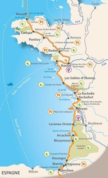 La Velodyssée :  : l'itinéraire vélo en France