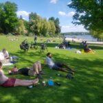 Pause vélo entre Potsdam et Berlin