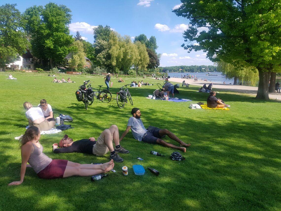De Berlin à Potsdam à vélo le long de la spree